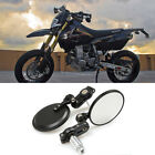 Dual Sport Dirt Black Bar End Mirrors Grips For Suzuki DR200S DRZ400S DR650 S SE $15.95 USD on eBay