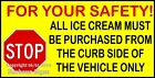 Kyпить (CHOOSE YOUR SIZE) Safety Stop Curbside DECAL Concession Ice Cream Truck Sticker на еВаy.соm
