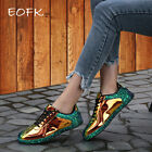 Women Gold Glitter Shinny  Sneakers Bling Fashion Casual LaceUp  LowTop Shoes