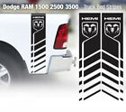 2 Dodge Ram 1500 2500 3500 Hemi 4x4 Decals Stickers Truck Bed Stripes Vinyl Cut