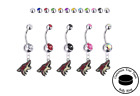 Arizona Coyotes Silver Belly Button Navel Ring - Customize Gem Color - NEW $14.99 USD on eBay