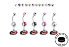 Carolina Hurricanes Silver Belly Button Navel Ring - Customize Gem Color - NEW $129.99 USD on eBay