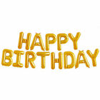 Happy Birthday Balloon Banner Bunting Self Inflating Decoration Letters Balloons