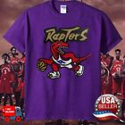 Toronto Raptors Mitchell Ness Retro Logo T Shirt Purple Cotton Made In USA Tee on eBay