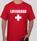 Lifeguard T Shirt Red Full Front w/ CROSS All Sizes Free Shipping NEW Life Guard image