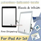 For iPad 5 / Air 1st Front Glass Digitizer  Touch Screen Glass  Home Button