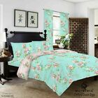Oxford Duvet Set Quilt Cover Fitted Sheet Pillow Cases or Matching Curtains