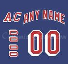 New York Rangers Number Kit for 2007-Present Home Jersey $34.99 USD on eBay