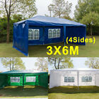 3x3m 3x4m 3x6m Gazebo Marquee Outdoor Garden Party Tent Canopy 4 Side Panels New
