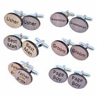 WOODEN Wedding Cufflink Mens Cuff links Groom Best Man Usher Page Gift etc