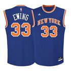 Patrick Ewing NBA Adidas Men's New York Knicks Road Blue Replica Jersey on eBay