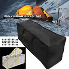 Black Heavy Duty Waterproof Garden Furniture Covers Outdoor Cushion Storage Bag