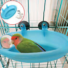 Mini Plastic Bird Cage Bath Basin With Mirror For Pets Small Bird Parrot Bathtub