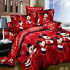 Mickey Mouse Red Quilt Cover 100% Cotton image