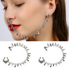 Fashion Nose To Ear Chain Nose Ring & Pierced Earring Jewelry Christmas Party Uk