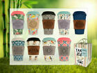 Reusable Bamboo Coffee Cups Eco Friendly Thermal Insulated Travel Mug Lid New