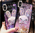 Glitter Bunny Case With Kickstand For Iphone Xs Max, Iphone Xr, Xs, 7/8Plus