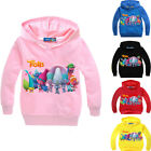 Boys Girls Kids Trolls Cartoon Spring Autumn Casual Sweatshirt Hoodie Long Shirt image