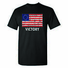 Betsy Ross American Flag Victory on a Black T Shirt image