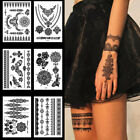 Waterproof Black Temporary Tattoo Sticker Large Arm Body Art Lasting Decoration $2.71 USD on eBay