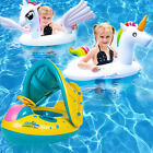 Kyпить Baby Kids Pool Float with Canopy Inflatable Swimming Ring Swim Floats for 0-6Yrs на еВаy.соm