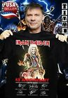 45th Anniversary of Iron Maiden T-Shirt Signature heavy metal band Tee For Fan