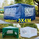 Heavy Duty Waterproof Garden Outdoor 3x3m/4m/6m Gazebo Wedding Party Tent 4Sides