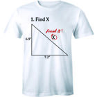 4.Find x I Found It - Funny Humor Math Answer College Teacher Men's T-shirt Tee