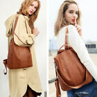 Rucksack Women Leather Pompom Backpack Handbag Anti-theft Ladies Shoulder Bag image