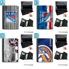 New York Rangers Leather Wallet Purse Coin Credit Card ID Holder $14.99 USD on eBay