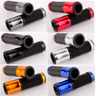 "7/8"" Aluminum Motorcycle Handlebar Rubber Gel Hand Grips Bar End Fit Cafe Racer $8.23 USD on eBay"
