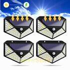 2/4xSolar Powered 100LED Motion Sensor light Garage Outdoor Security Flood Light