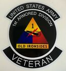 """US ARMY 1ST ARMORED DIVISION """"OLD IRONSIDES"""" VETERAN STICKER WATERPROOF D59"""