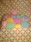 12 Soy FLOWERS melting tarts, 245+, handmade, A-N, FREE shipping
