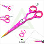 """4.5"""" to 6"""" Pink Color Barber Hair Dressing False Hair Removing Sharp Blade NEW"""