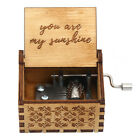 Wooden Music Box Mom/Dad To Daughter -You Are My Sunshine Engraved Toy Kid Gift
