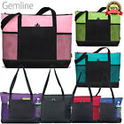 Gemline Select Zippered Tote Polyester 1100 Front Pocket With Pen Loop OS