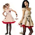 Halloween Costume Voodoo Doll Costumes for Adults Child Fancy Cosplay Mini Dress