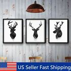30x40cm Deer Head Animal Minimalist Canvas Watercolor Print Painting