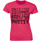 Smiling Gives Me Wrinkles Resting Bitch Face Keeps Me Pretty Women's Tee
