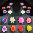 10cm Artificial Lotus Water Lily Floating Flower Pond Fish Tank Fake Plants