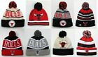 Chicago Bulls Pom Top Cuffed Beanie Knit Winter Cap Hat NBA Authentic on eBay