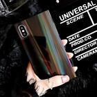 Silicone Shockproof Bumper Rainbow Shining Phone Case For iphone 7 8 6 6sPlus sq