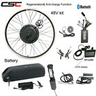 Ebike Conversion Motor Wheel Kit 48V 500W Electric Bicycle Engine With Battery