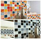 6/12pcs 3d Mosaic Self-adhesive Bathroom Kitchen Decor Wall Mosaic Tile Stickers