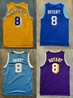 NWT Kobe Bryant #8 Los Angeles Lakers Yellow Throwback Jersey Stitched Men on Ebay