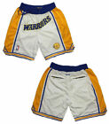 New Men's Golden State Warriors Basketball pants Shorts Retro mesh white on eBay