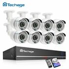 8CH 1080P DVR Kit CCTV Security System 8PCS 2MP IP66 Waterproof AHD Camera APP A