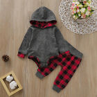 FixedPriceus toddler baby boy girl kids hooded bodysuit pants autumn winter outfit clothes