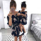 Family Dress Mother and Daughter Matching Women Daughter Dresses Outfits Clothes